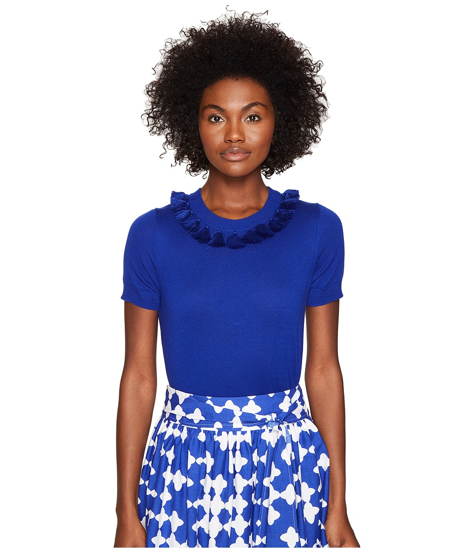 Kate Spade New York - Spice Things Up Tassel Sweater (Cobalt Blue) Women's Sweater