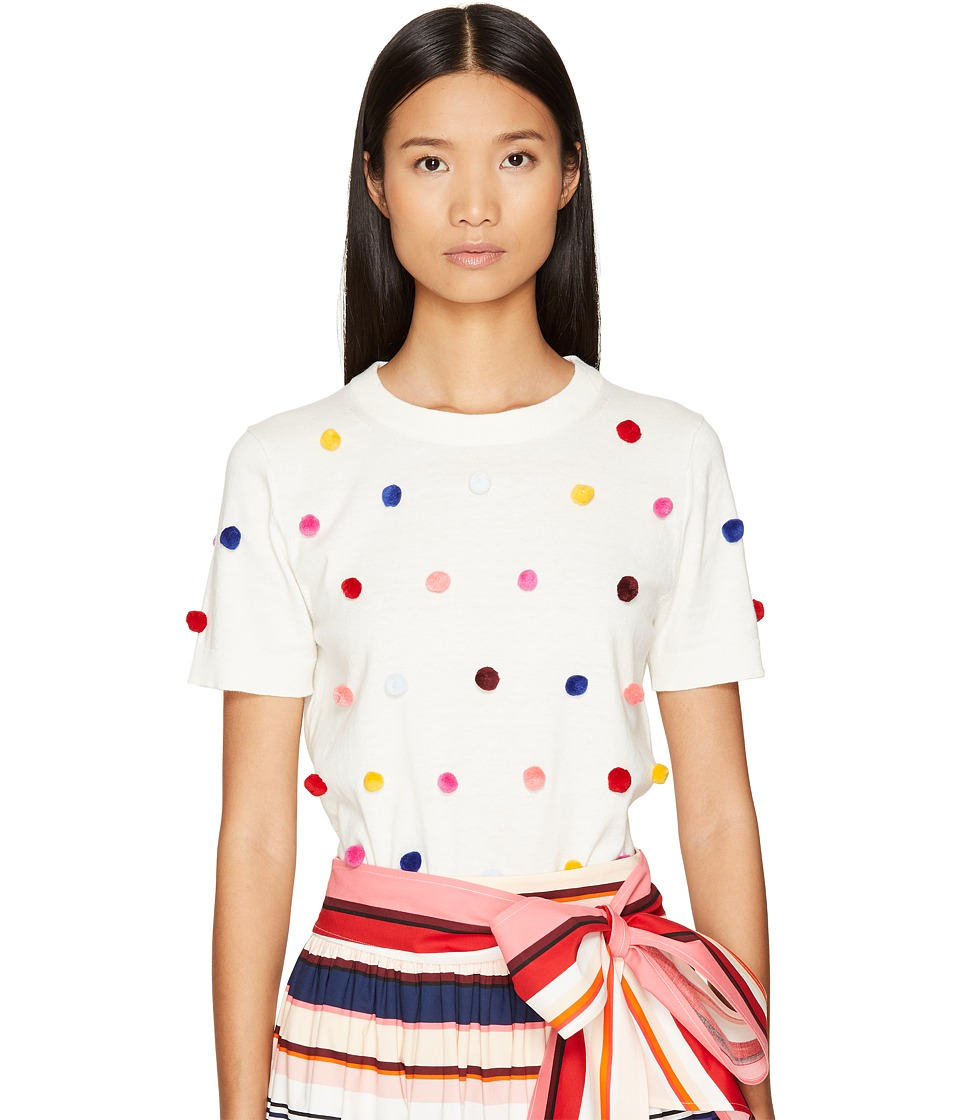 Kate Spade New York - Spice Things Up Pom Sweater (Cream Multi) Women's Sweater