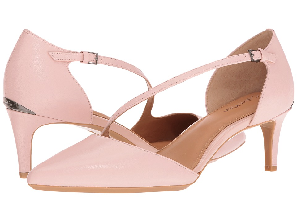 Calvin Klein - Page (Blush Leather) Women's Flat Shoes