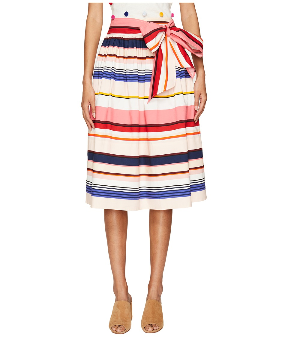 Kate Spade New York - Spice Things Up Berber Stripe Midi Skirt (Multi) Women's Skirt