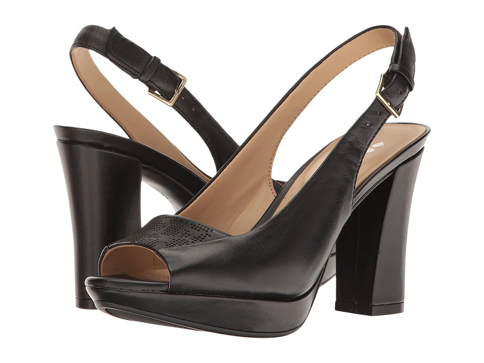 Naturalizer - Allegra (Black Leather) Women's Shoes