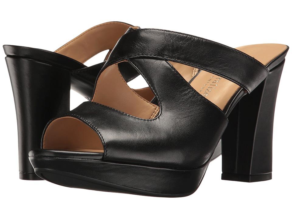Naturalizer - Atlas (Black Leather) Women's Shoes