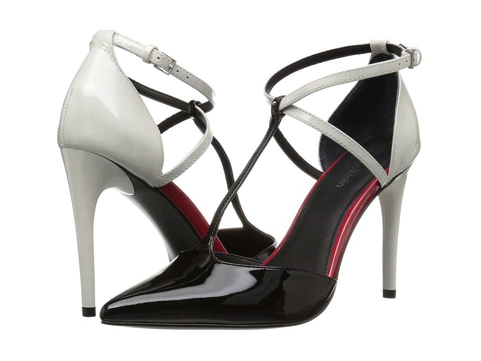 Calvin Klein - Savannah (Black/Platinum White Patent) High Heels