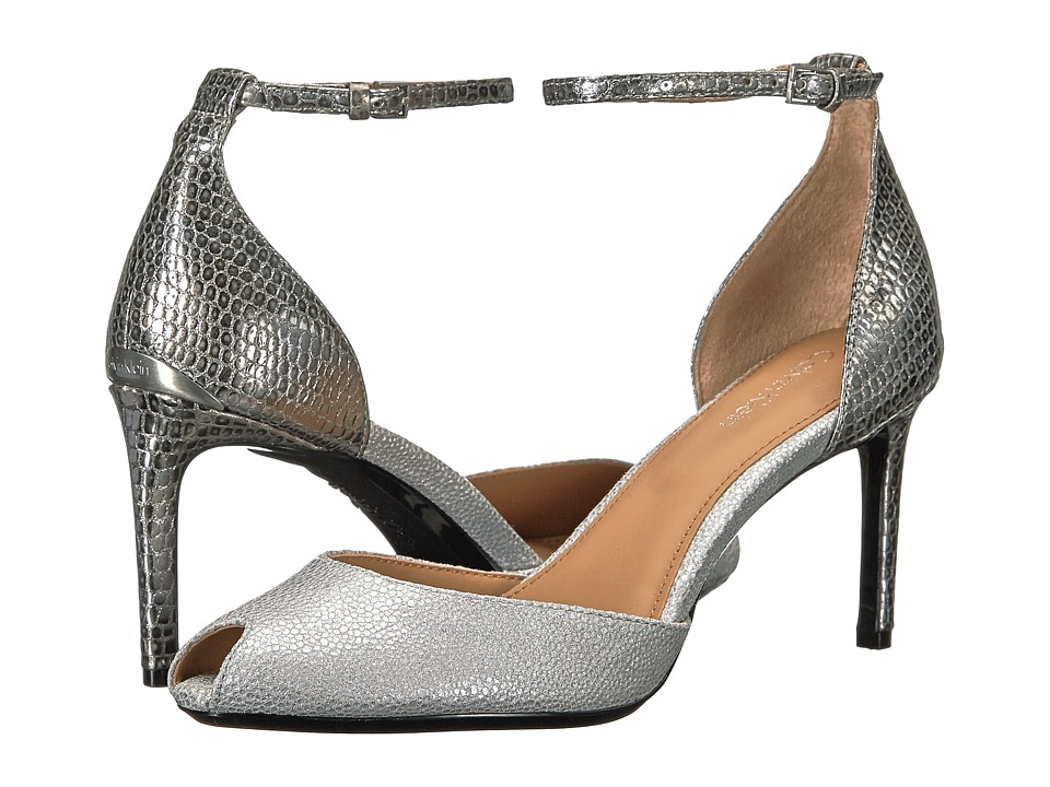 Calvin Klein - Saiden (Vesper Grey/Alloy Stingray Print Leather) Women's 1-2 inch heel Shoes