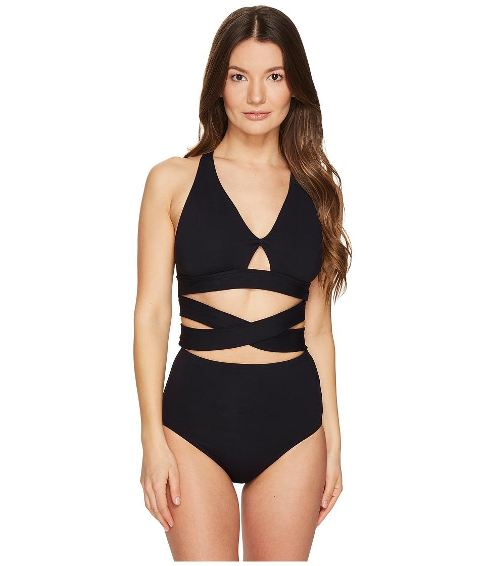 Proenza Schouler - Wrap High Waist Bikini Set (Black) Women's Swimwear Sets