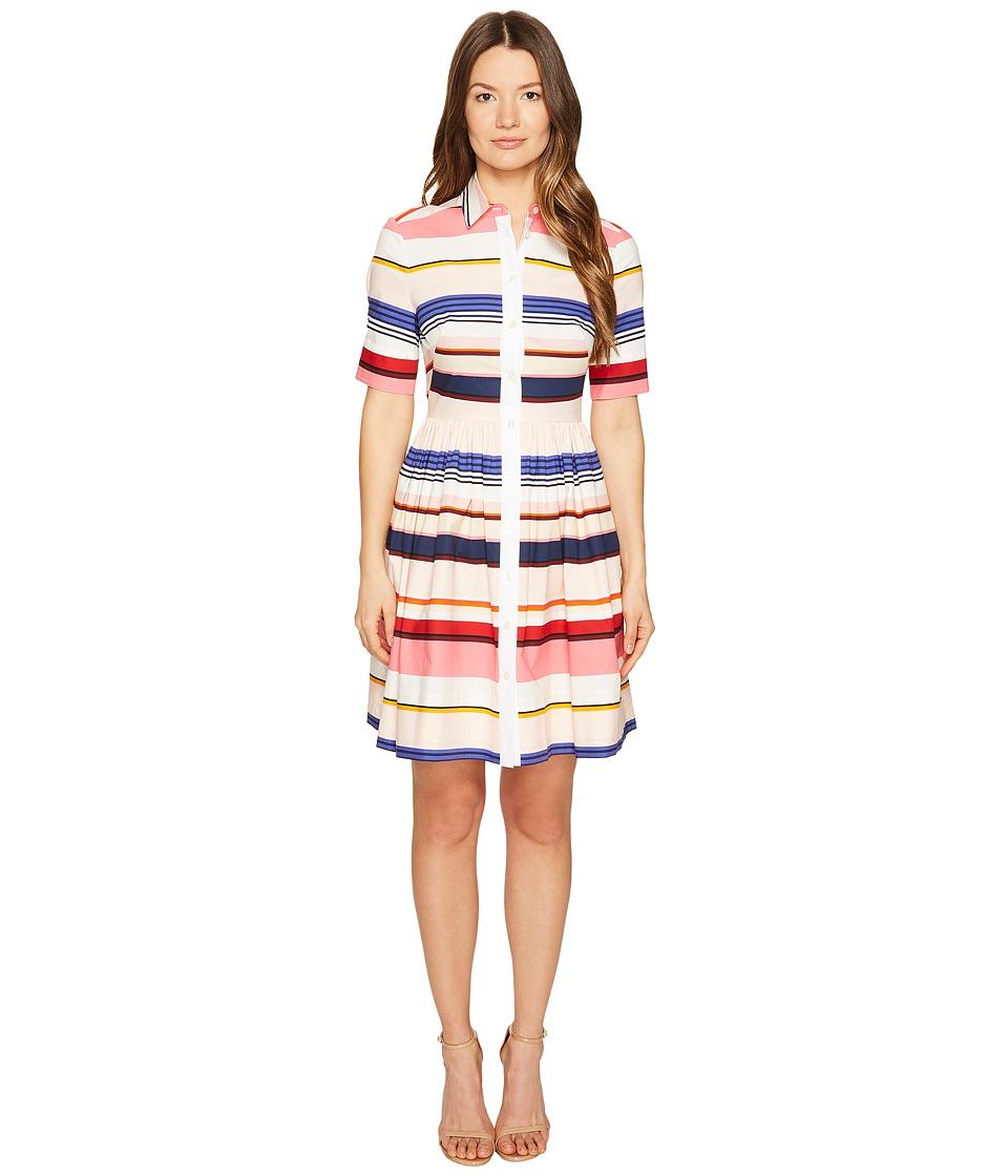Kate Spade New York - Spice Things Up Berber Stripe Shirtdress (Multi) Women's Dress