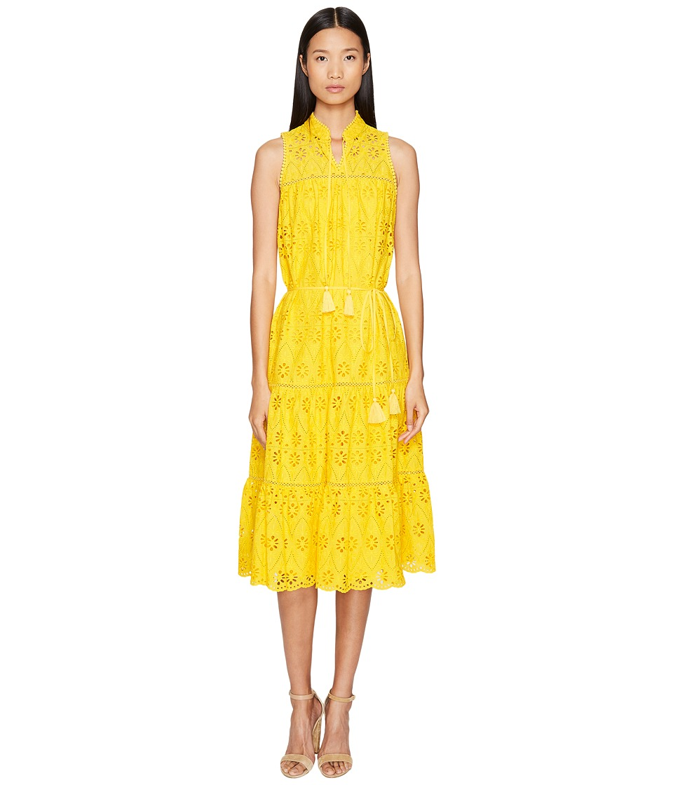 Kate Spade New York - Spice Things Up Eyelet Patio Dress (Yellow Spice) Women's Dress