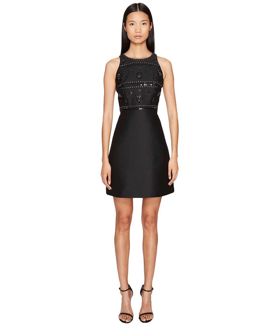 Kate Spade New York - Spice Things Up Embellished A-Line Dress (Black) Women's Dress