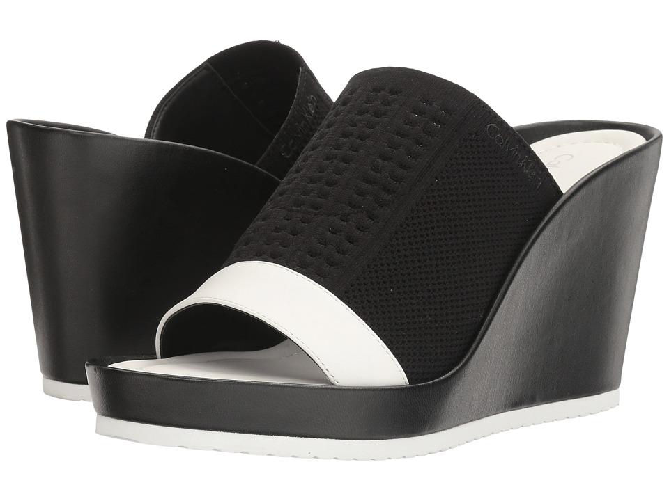 Calvin Klein Hazel (Black/Plat White Stretch Knit) Women