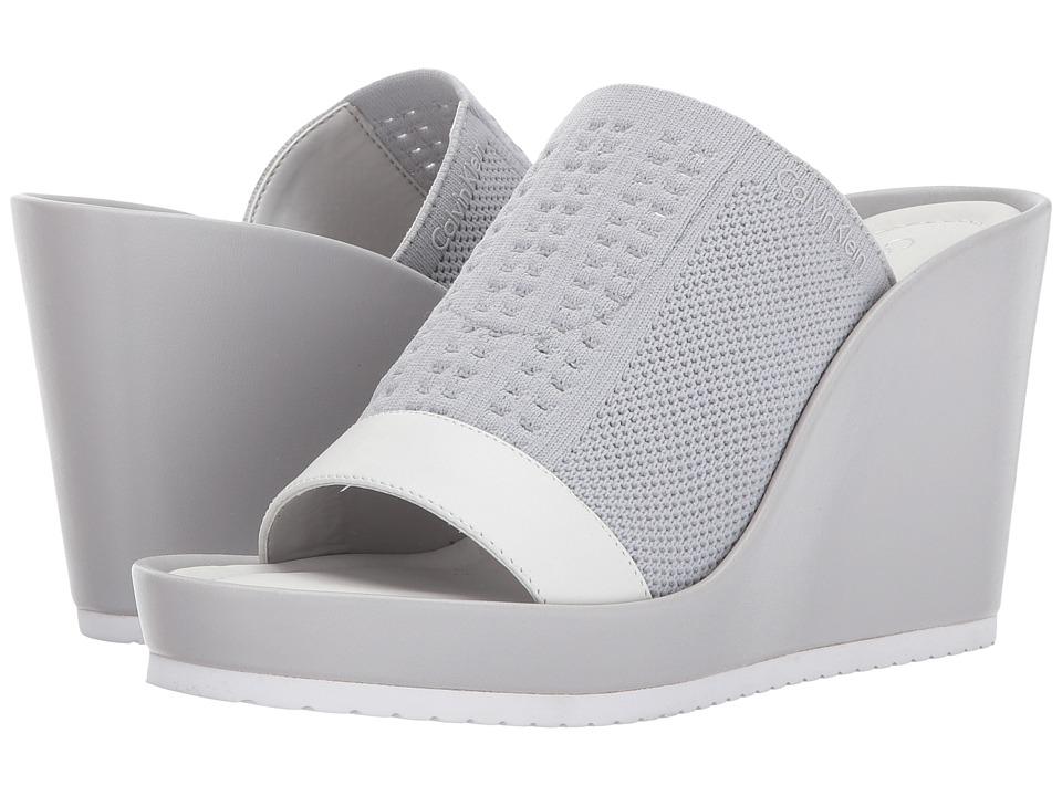 Calvin Klein - Hazel (Vesper Grey/Soft White Stretch Knit) Women's Shoes