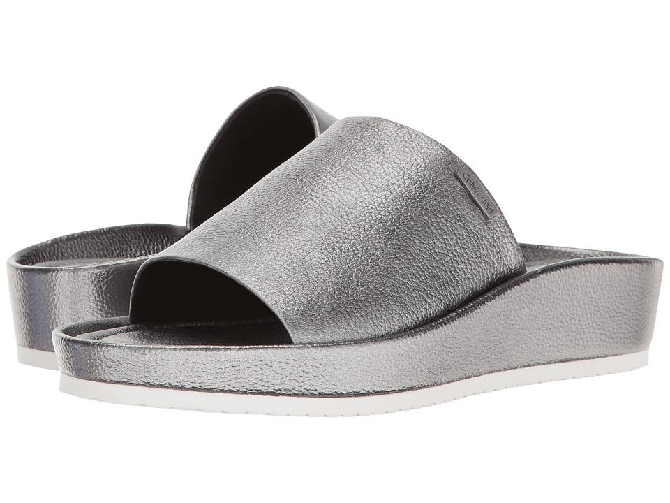 Calvin Klein - Hope (Alloy Metallic Leather) Women's Shoes