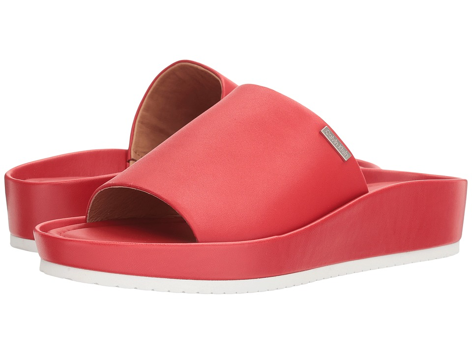 Calvin Klein - Hope (Lipstick Red Leather) Women's Shoes