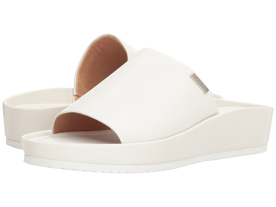 Calvin Klein - Hope (Platinum White Leather) Women's Shoes