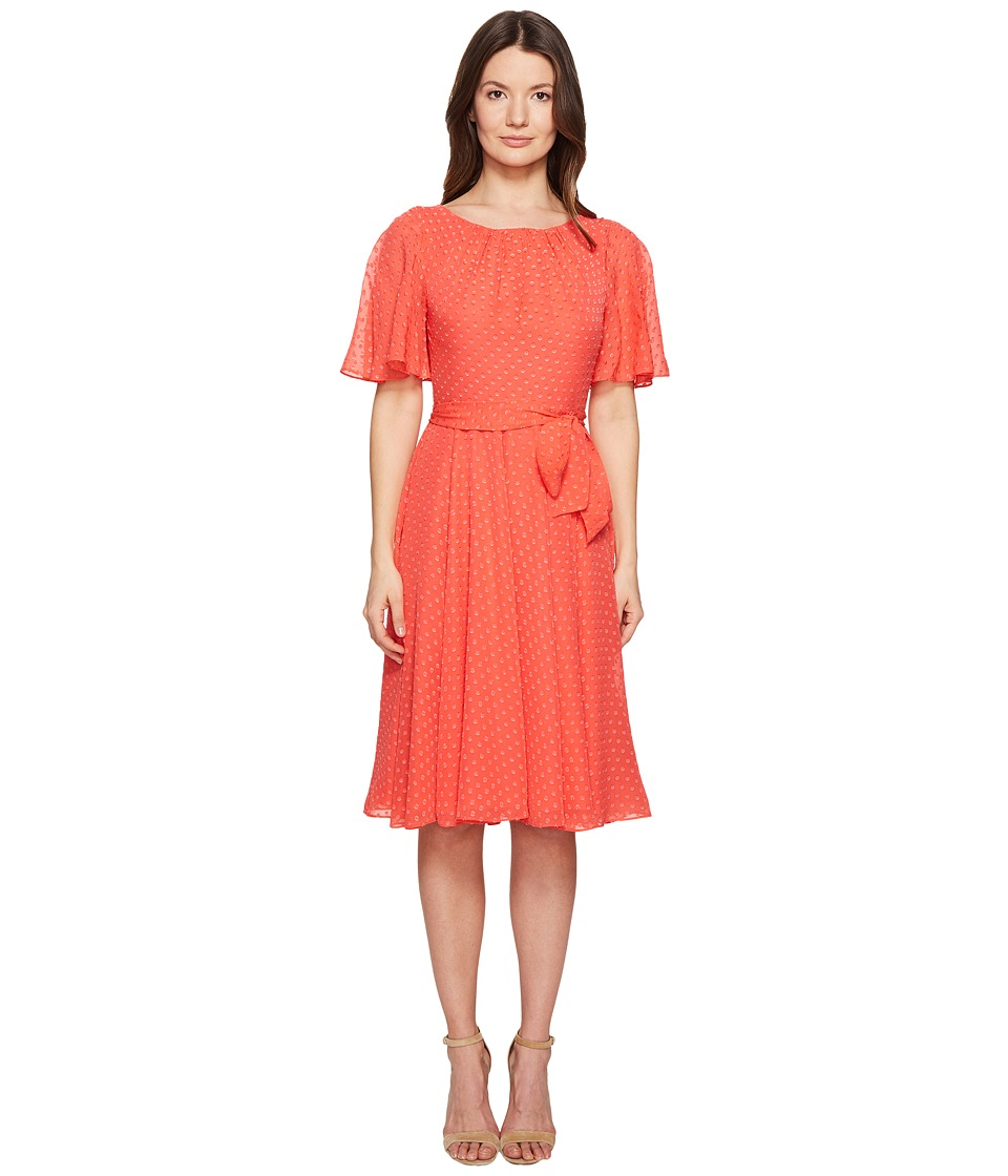 Kate Spade New York Spice Things Up Clipped Chiffon Dress (Paprika) Women