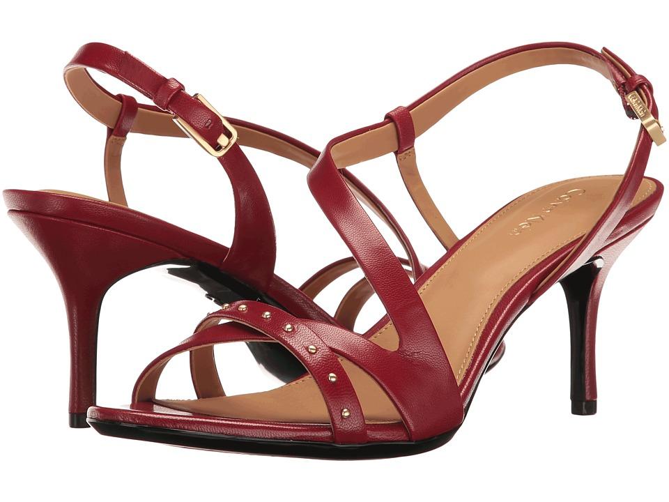 Calvin Klein - Lorelai (Cherry Red Leather) Women's Shoes