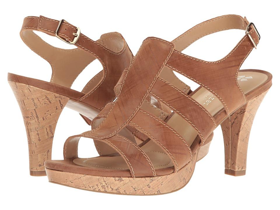 Naturalizer - Preya (Saddle Tan Plaid Embossed Leather) Women's Shoes