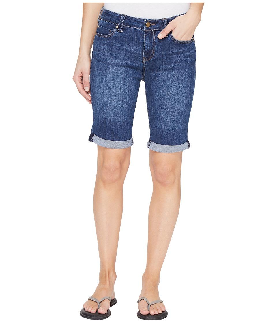 Liverpool - Hayden Rolled-Cuff Bermuda 11/9 Rolled in Montauk Mid Blue (Montauk Mid Blue/Indigo) Women's Shorts