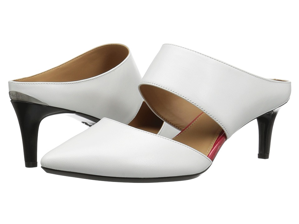 Calvin Klein - Paiden (Platinum White Leather) Women's Shoes