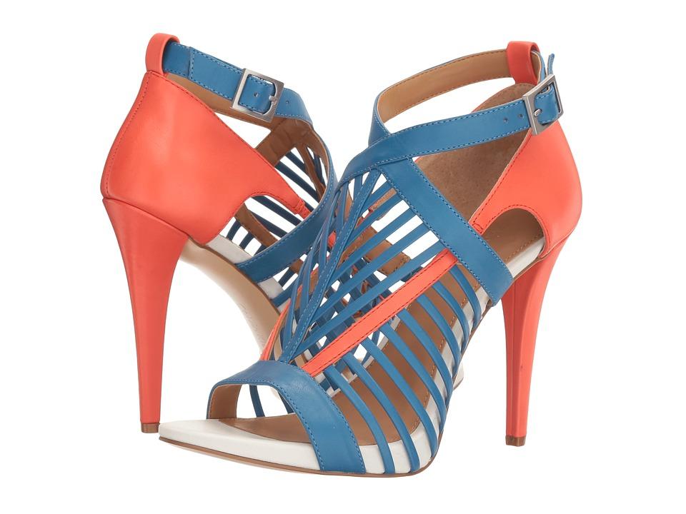 Calvin Klein - Naida (Lapis Blue/Deep Blush Leather) Women's Shoes