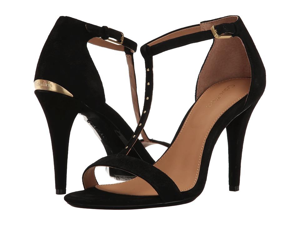 Calvin Klein - Nashra (Black Suede) Women's Shoes