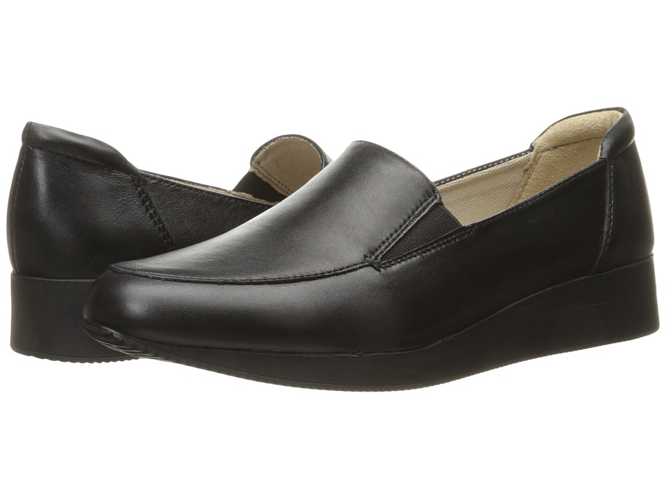 Naturalizer - Janet (Black Leather) Women's 1-2 inch heel Shoes