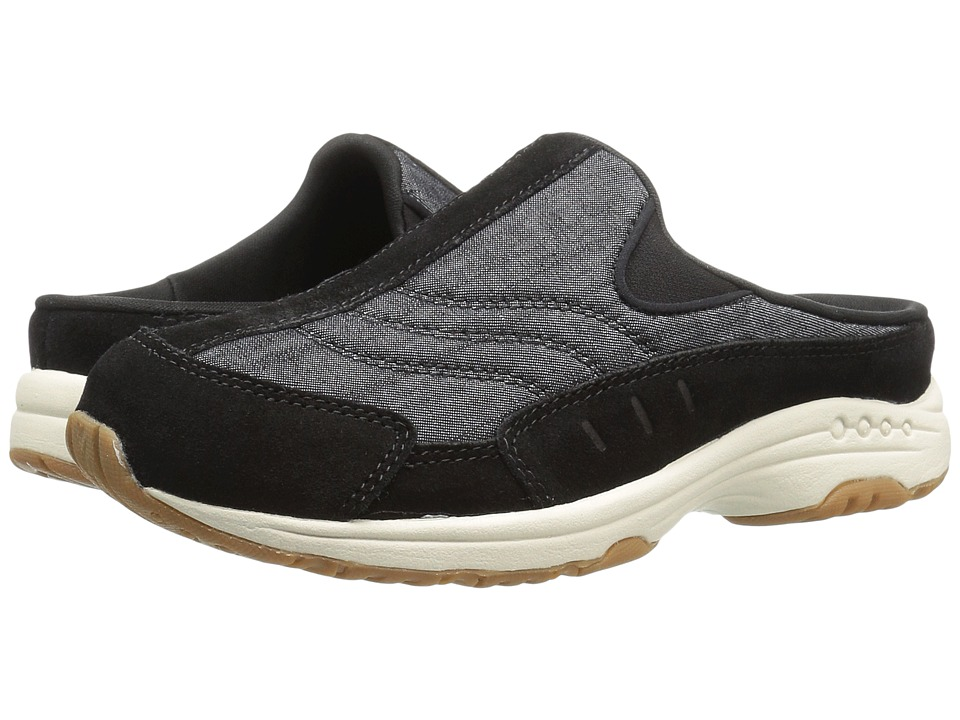 Easy Spirit - Traveltime 268 (Black/Black Suede) Women's Shoes