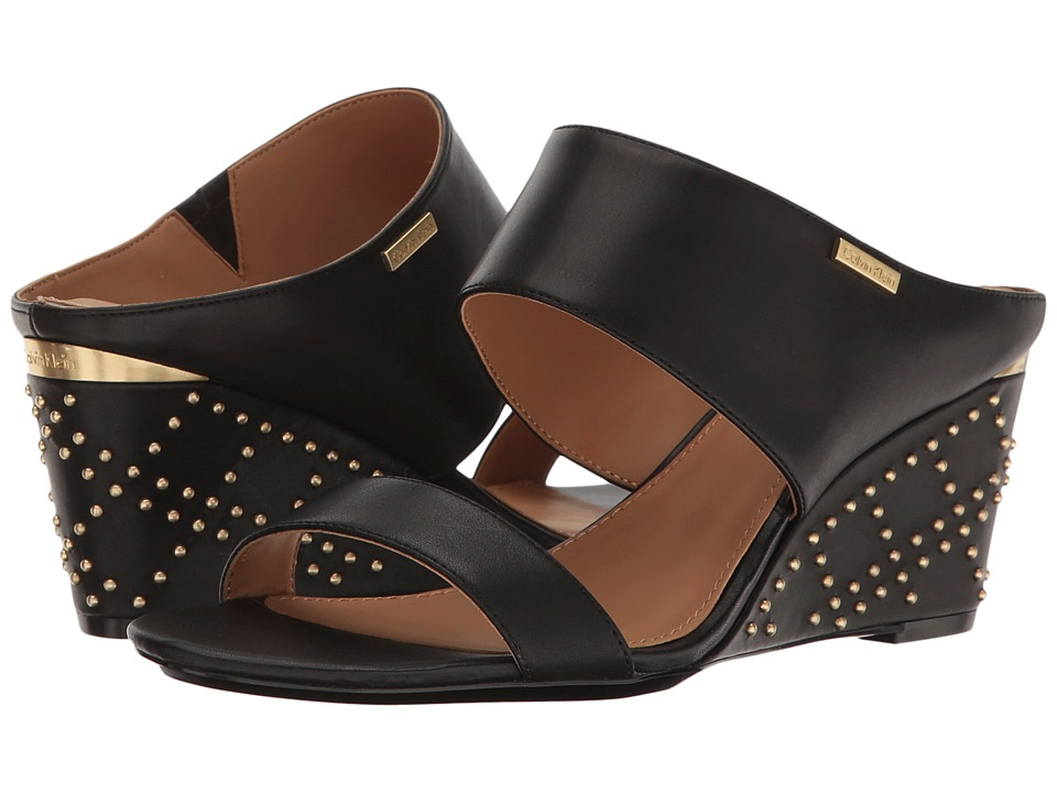 Calvin Klein - Phyllis (Black Leather) Women's Shoes