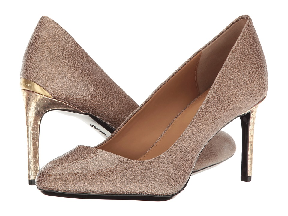 Calvin Klein - Salsha (Cocoon Stingray Print Leather) Women's Shoes