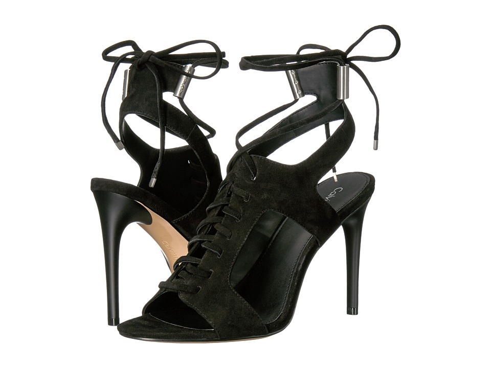 Calvin Klein - Santos (Black Suede) Women's Shoes