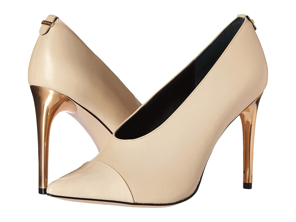 Calvin Klein - Saydee (Sand Leather/Patent) Women's Shoes