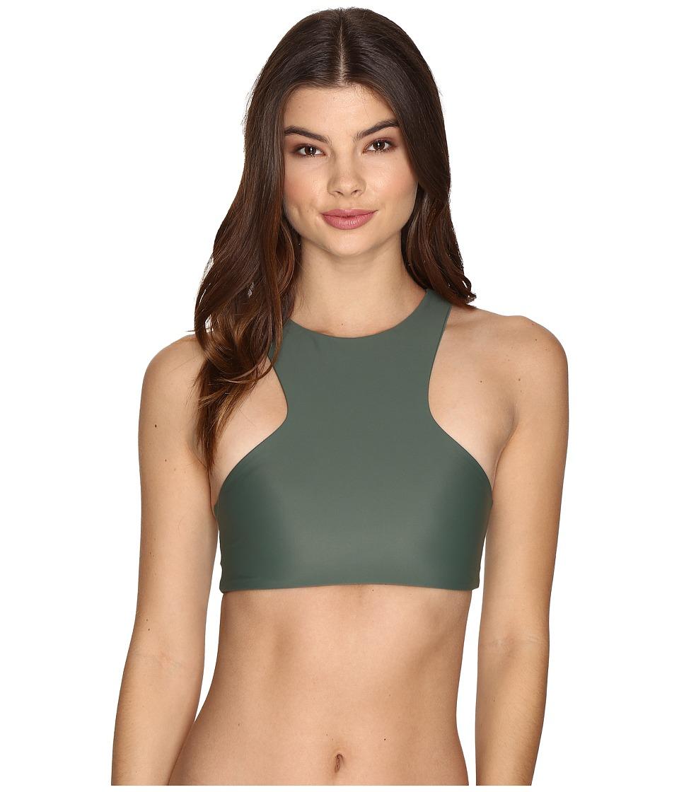 MIKOH SWIMWEAR - Barbados Top (Army) Women's Swimwear