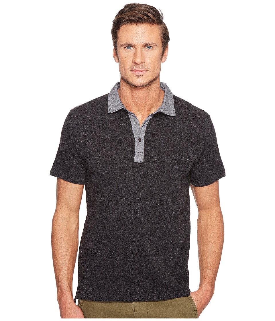 Todd Snyder - Chambray Collar Polo (Dark Charcoal Mix) Men's Clothing