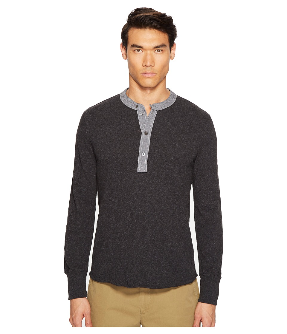 Todd Snyder - Classic Chambray Henley (Dark Charcoal Mix) Men's Clothing