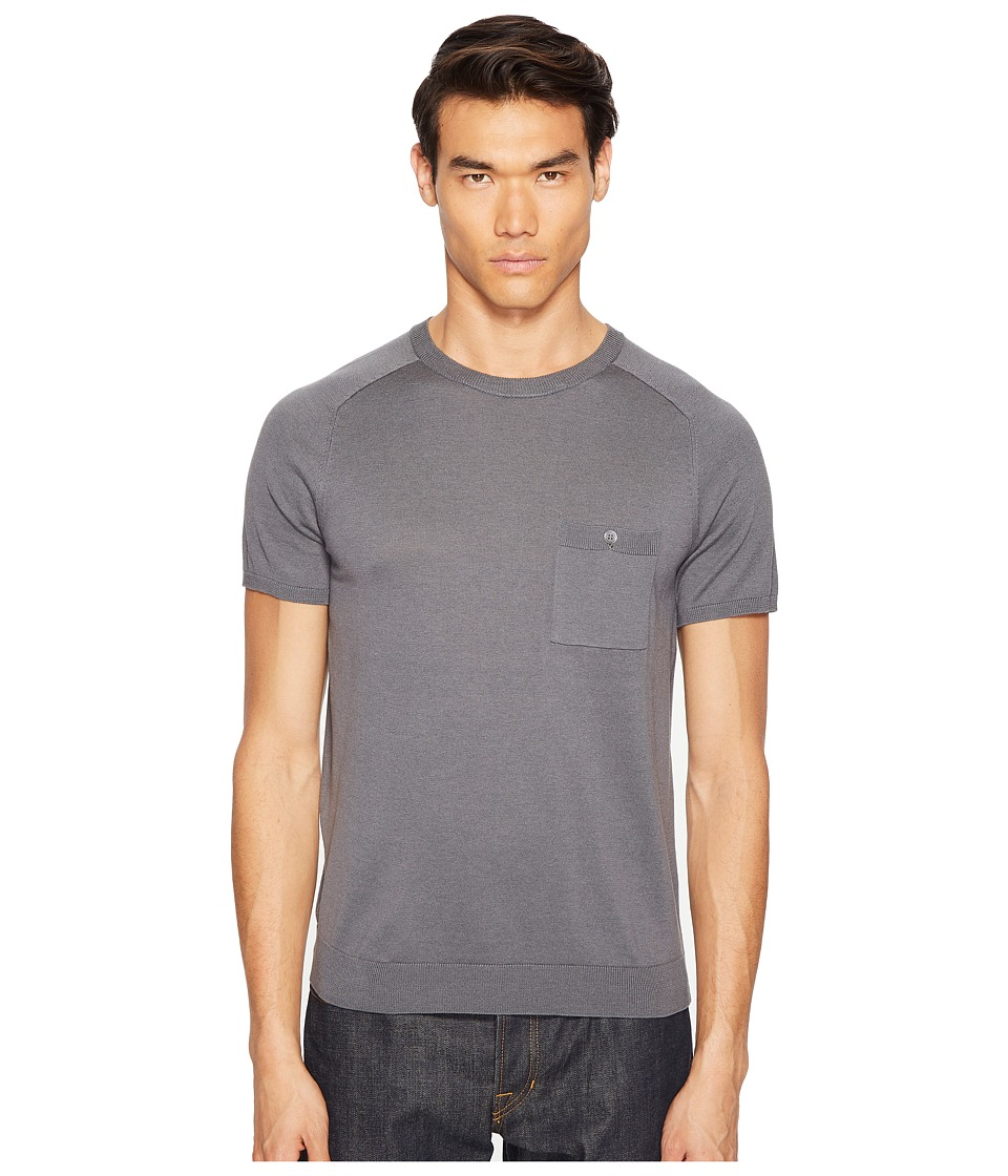 Todd Snyder - Cotton Silk T-Shirt Sweater (Grey) Men's Sweater