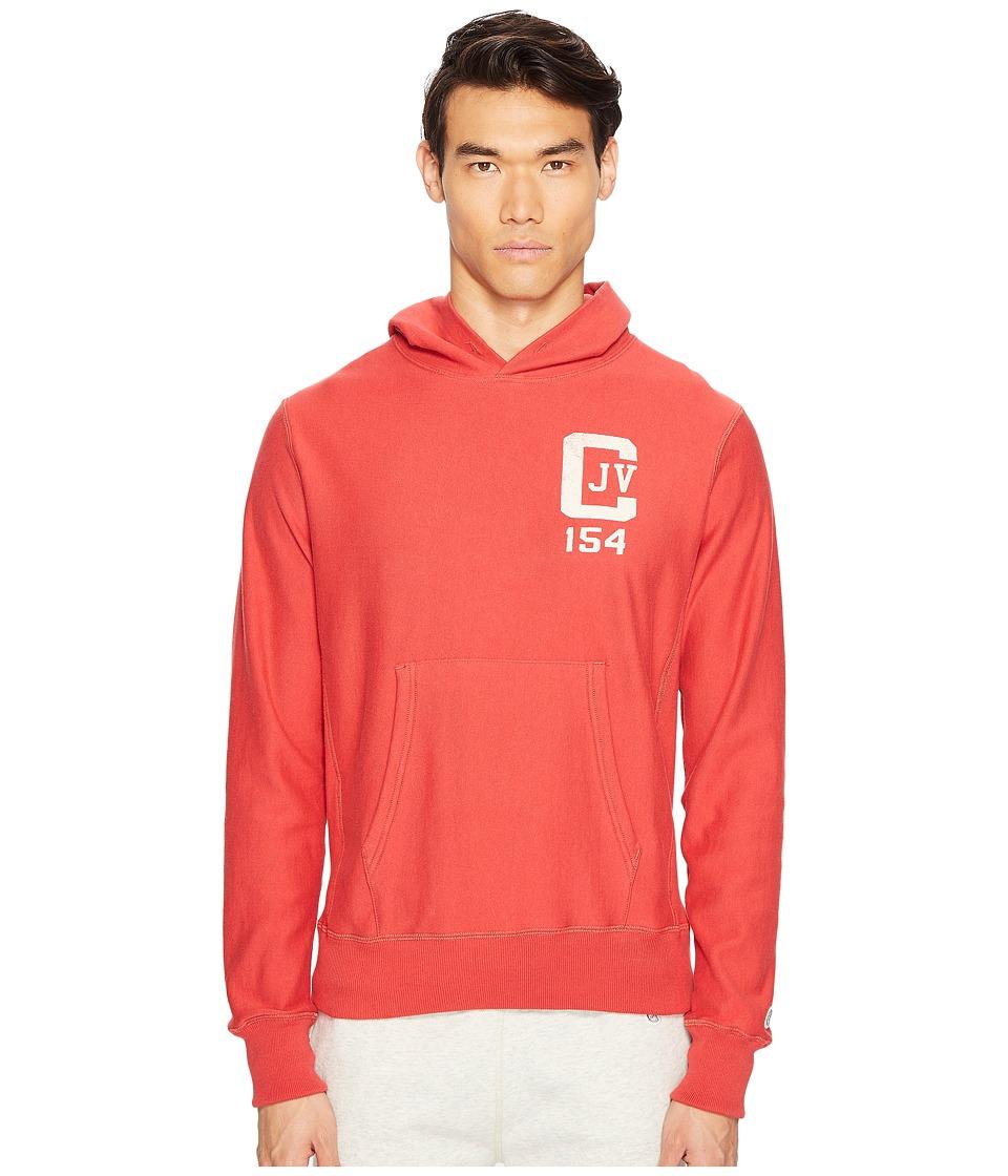 Todd Snyder + Champion - Champion Logo Graphic Hoodie (Faded Red) Men's Sweatshirt