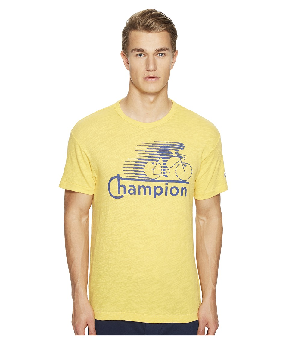 Todd Snyder + Champion - Cycling Graphic T-Shirt (Golden Yellow) Men's T Shirt
