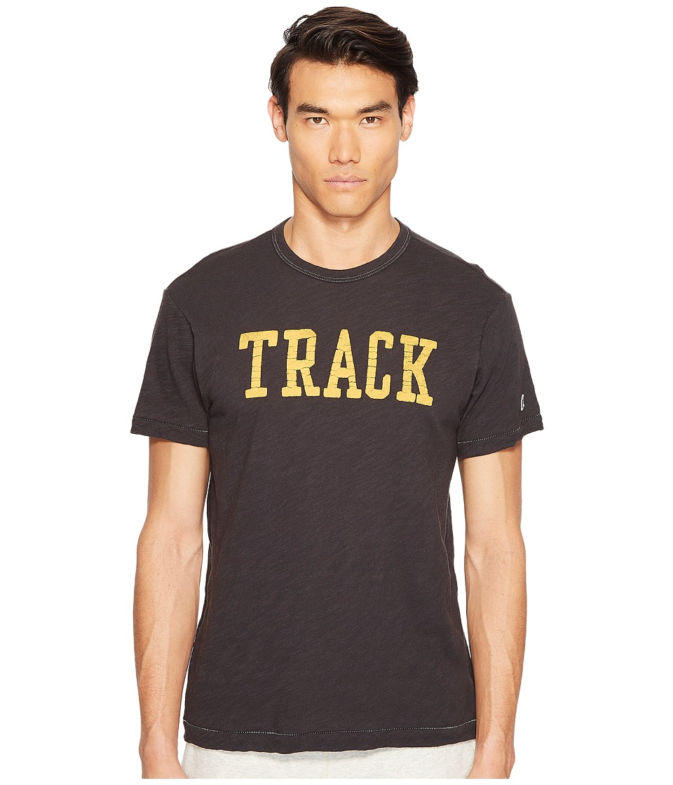 Todd Snyder + Champion - Track Graphic T-Shirt (Black) Men's T Shirt