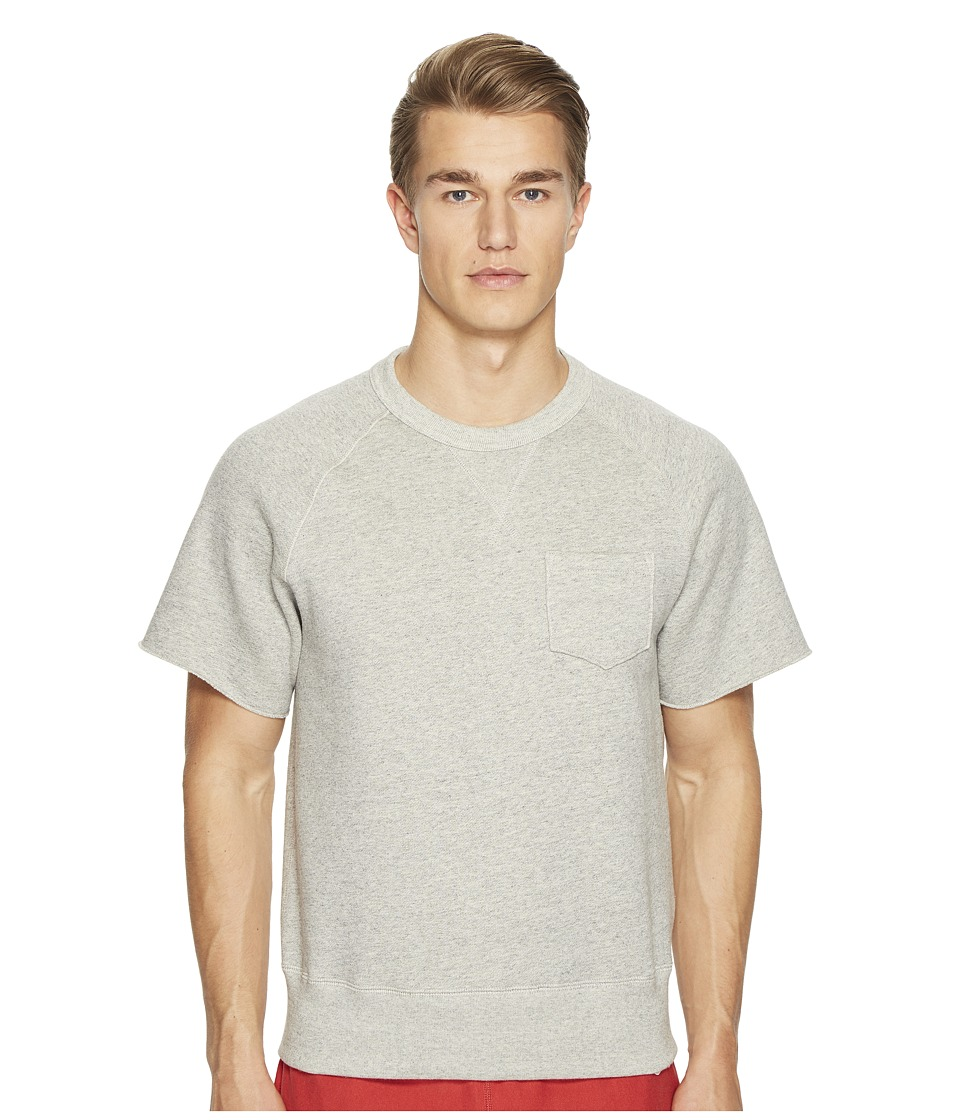Todd Snyder + Champion - Short Sleeve Cut Off Sweatshirt Fleece (Grey Chrome Check) Men's Sweatshirt