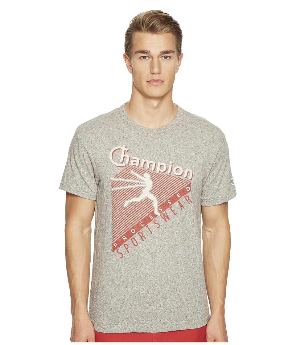 Todd Snyder + Champion - Champion Processed Sportswear Graphic T-Shirt (Antique Grey Mix) Men's T Shirt