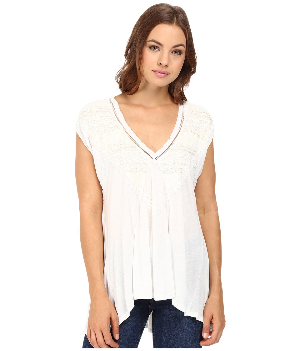 Free People - Abigail Tee (Ivory) Women's T Shirt