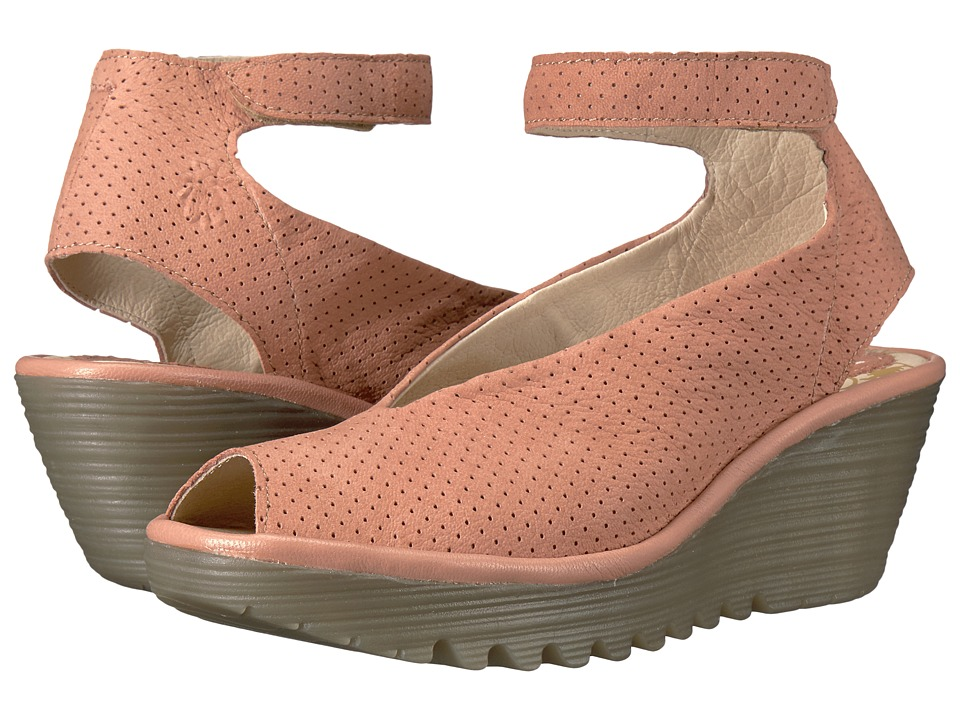 FLY LONDON - Yala Perf (Rose Cupido/Mousse) Women's Shoes