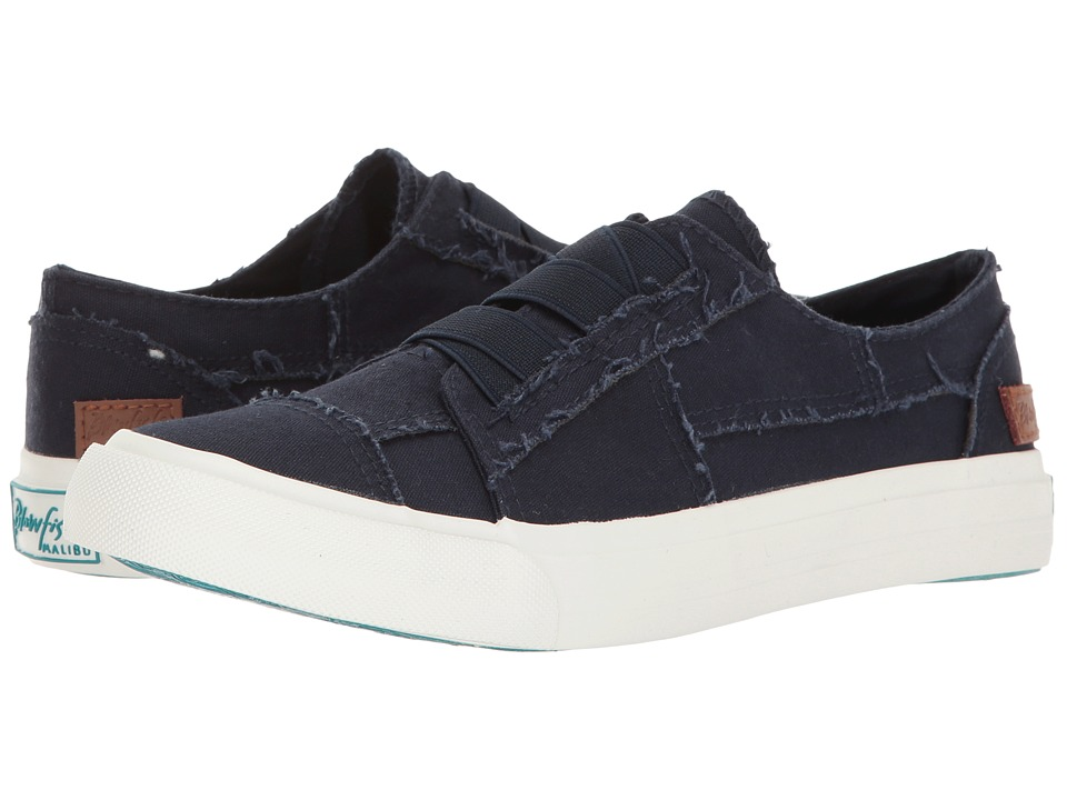 Blowfish - Marley (Navy Color Washed Canvas) Women's Flat Shoes
