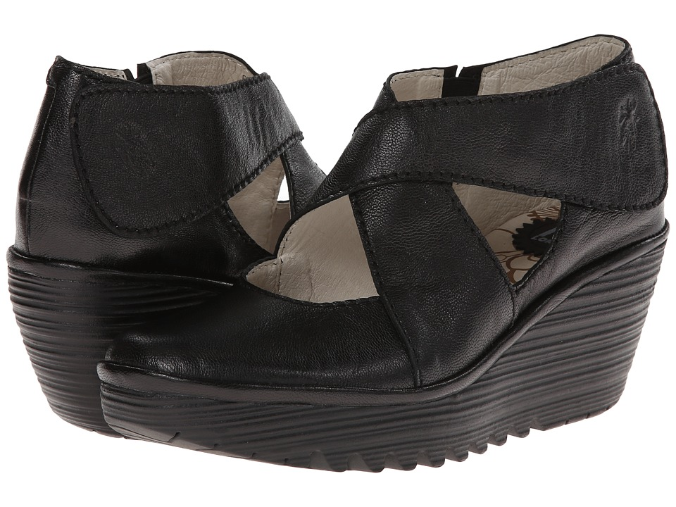 FLY LONDON - Yogo (Black Mousse) Women's Shoes