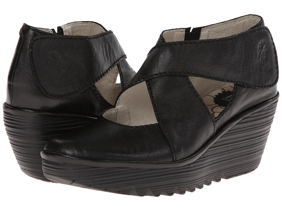 FLY LONDON - Yogo (Black Mousse) Women's Shoes