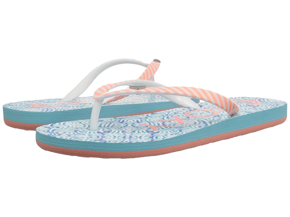 Roxy Kids - Pebbles V (Little Kid/Big Kid) (Blue Surf) Girls Shoes
