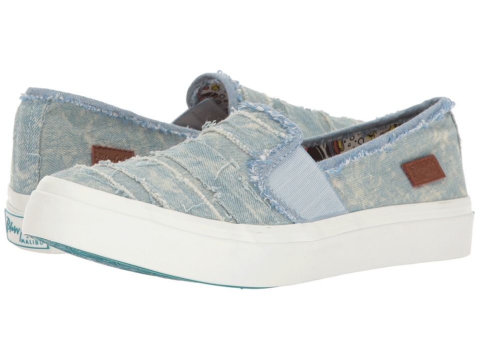 Blowfish - Hype (Denim Washed Stonewash Denim) Women's Wedge Shoes