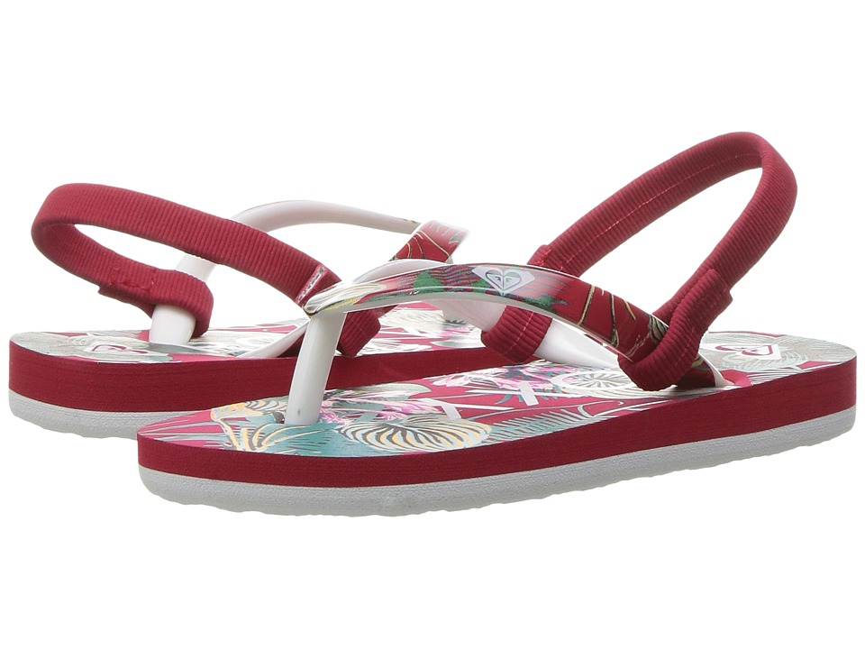 Roxy Kids - Pebbles VI (Toddler) (Red Tone) Girls Shoes