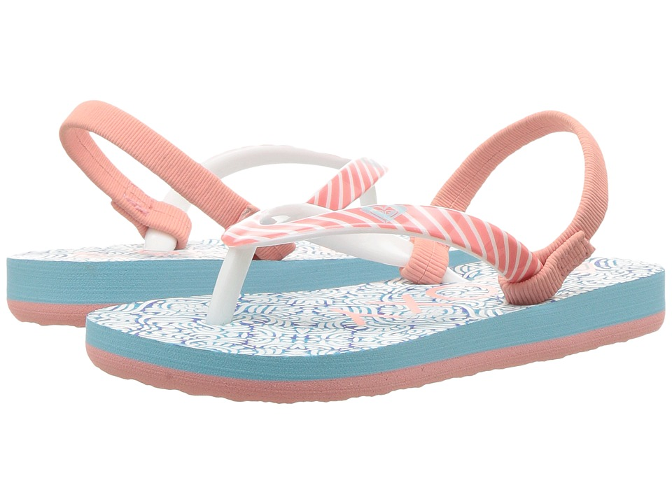 Roxy Kids - Pebbles VI (Toddler) (Blue Surf) Girls Shoes