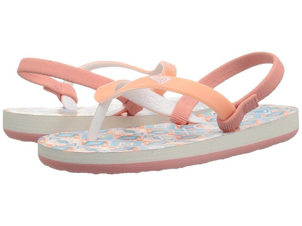 Roxy Kids - Tahiti VI (Toddler) (Orange/White) Girls Shoes