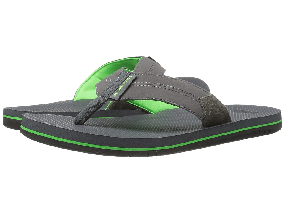Quiksilver - Coastal Oasis II (Grey/Green/Grey) Men's Sandals